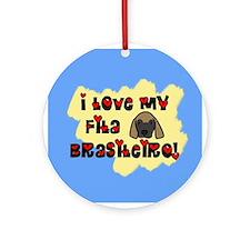 Love Fila Brasileiro Ornament (Round)
