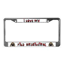 Love Fila Brasileiro License Plate Frame