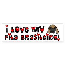 Love Fila Brasileiro Bumper Bumper Sticker