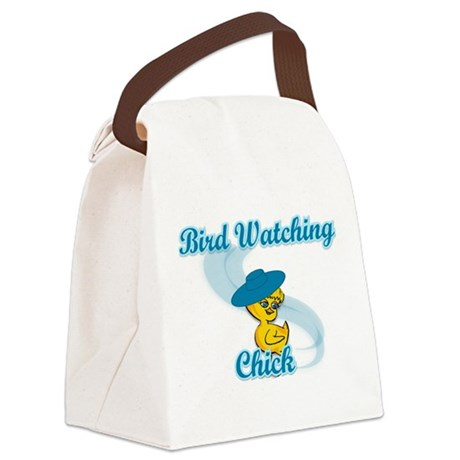 Bird Watching Chick #3 Canvas Lunch Bag