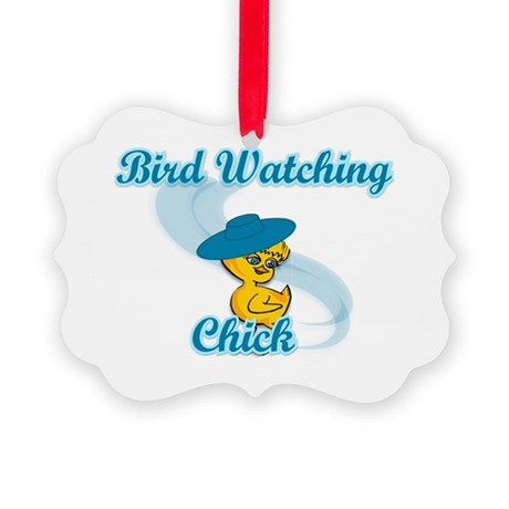 Bird Watching Chick #3 Picture Ornament