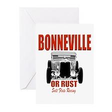 bonneville salt flats racing Greeting Cards (Pk of