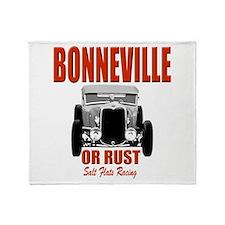 bonneville salt flats racing Throw Blanket