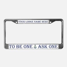 Masonic YOUR LODGE NAME License Plate Frame