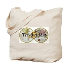 Classic Travel Addict Tote Bag