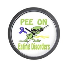 Pee on Eating Disorders Wall Clock