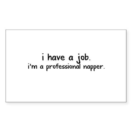 Professional napper. Sticker (Rectangle)