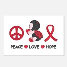 Ladybug Peace Love Hope Postcards (Package of 8)