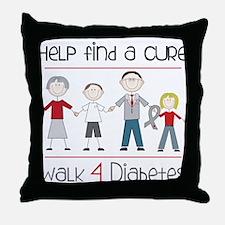 Walk 4 Diabetes Throw Pillow