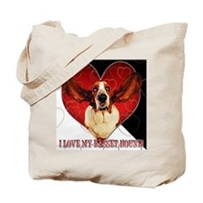 I Love My Basset Hound Tote Bag