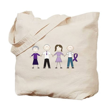 Alzheimers Stick Figures Tote Bag