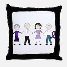 Alzheimers Stick Figures Throw Pillow