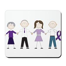 Alzheimers Stick Figures Mousepad