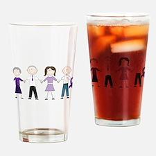 Alzheimers Stick Figures Drinking Glass