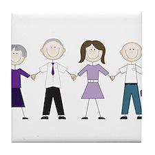 Alzheimers Stick Figures Tile Coaster