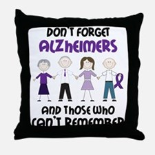 Dont Forget Alzheimers Throw Pillow