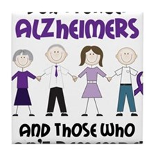 Dont Forget Alzheimers Tile Coaster