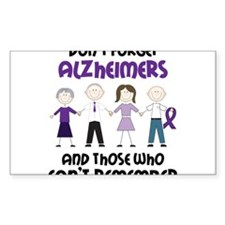 Dont Forget Alzheimers Decal