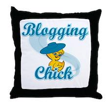 Blogging Chick #3 Throw Pillow