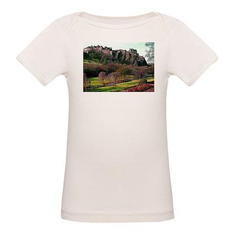 Edinburgh Castle View Organic Baby T-Shirt
