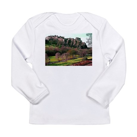 Edinburgh Castle View Long Sleeve Infant T-Shirt