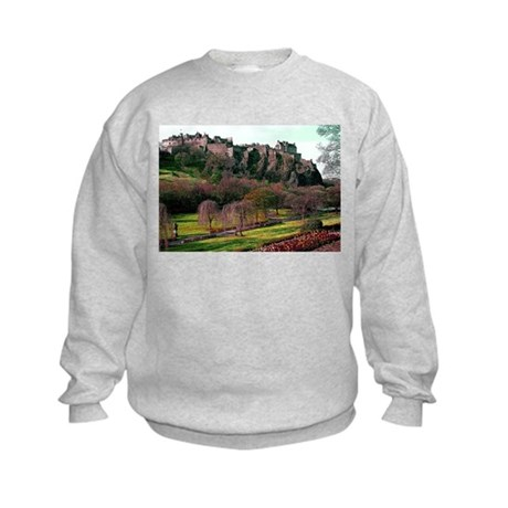 Edinburgh Castle View Kids Sweatshirt