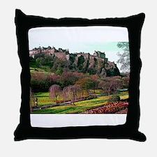 Edinburgh Castle View Throw Pillow