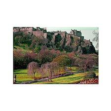 Edinburgh Castle View Rectangle Magnet