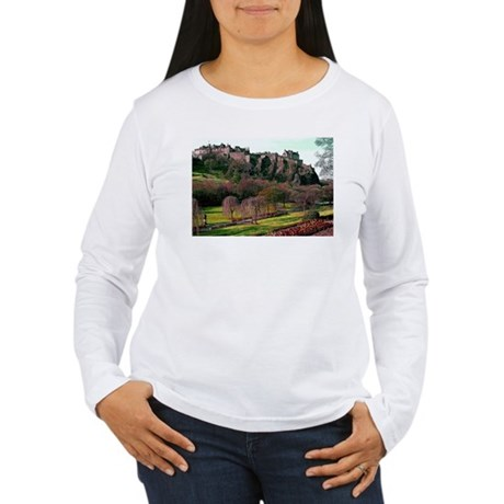 Edinburgh Castle View Women's Long Sleeve T-Shirt