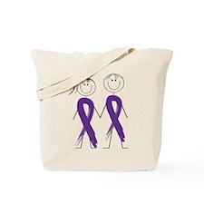 Alzheimers Ribbon Body Tote Bag