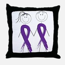 Alzheimers Ribbon Body Throw Pillow