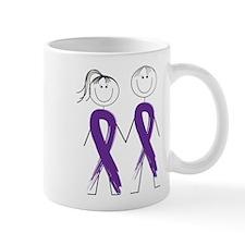 Alzheimers Ribbon Body Mug