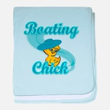 Boating Chick #3 baby blanket
