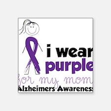 "I Wear Purple Square Sticker 3"" x 3"""