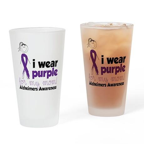 I Wear Purple Drinking Glass