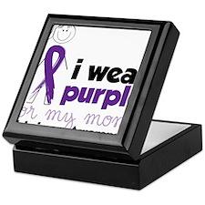 I Wear Purple Keepsake Box
