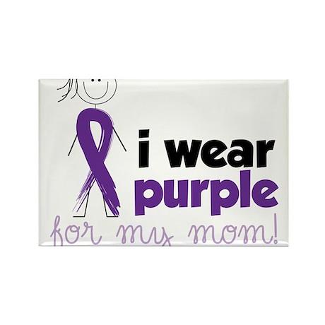 I Wear Purple Rectangle Magnet