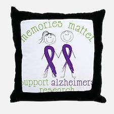 Memories Matter Throw Pillow
