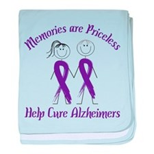 Help Cure Alzheimers baby blanket
