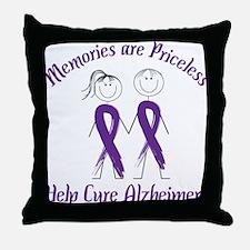 Help Cure Alzheimers Throw Pillow