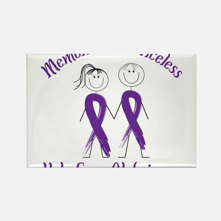 Help Cure Alzheimers Rectangle Magnet