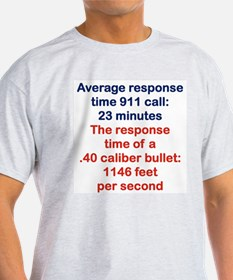AVERAGE RESPONSE TIME 911 CALL....png T-Shirt