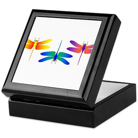 Three Bright Dragonflies Keepsake Box