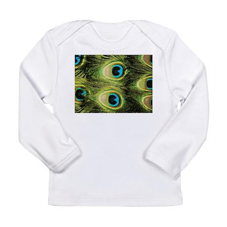 Peacock Feathers Macro Long Sleeve Infant T-Shirt