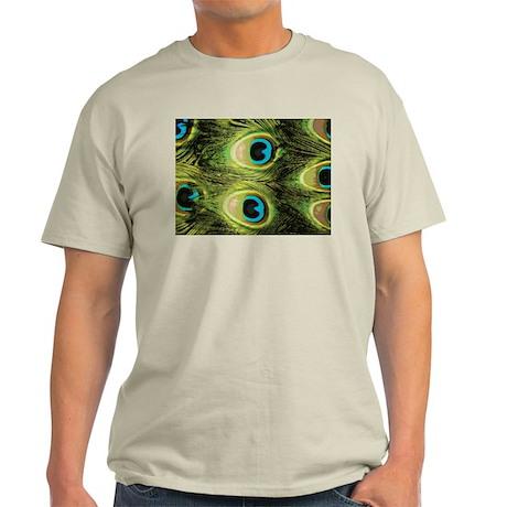 Peacock Feathers Macro Light T-Shirt