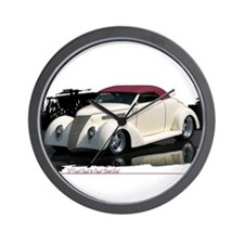1937 Ford Cabrolet Wall Clock