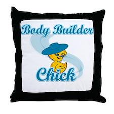 Body Builder Chick #3 Throw Pillow