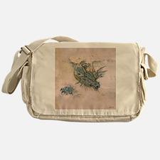 Blue Dragon In The Mist Messenger Bag