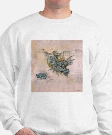 Blue Dragon In The Mist Sweatshirt