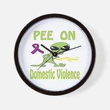 Pee on Domestic Violence Wall Clock